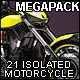Isolated Motorcycles Mega-Pack (7 variation) - GraphicRiver Item for Sale