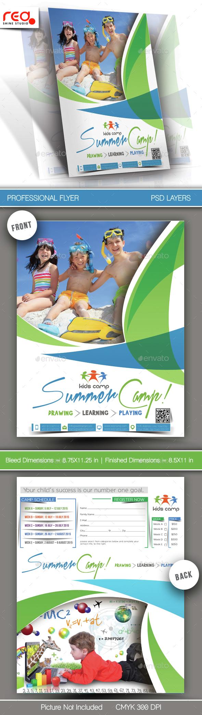 Summer Camp Flyer Template - 1