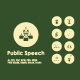 Public Speech simple icons