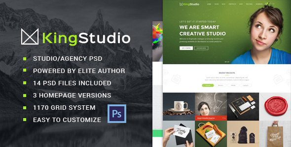 King Studio - Creative PSD Template