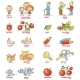 Plural of Nouns in Colorful Cartoon Pictures