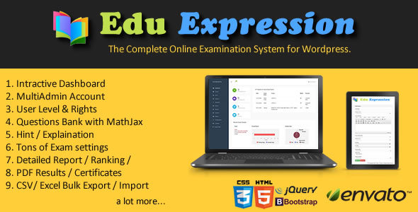 Edu Expression Online Examination System WP - CodeCanyon Item for Sale
