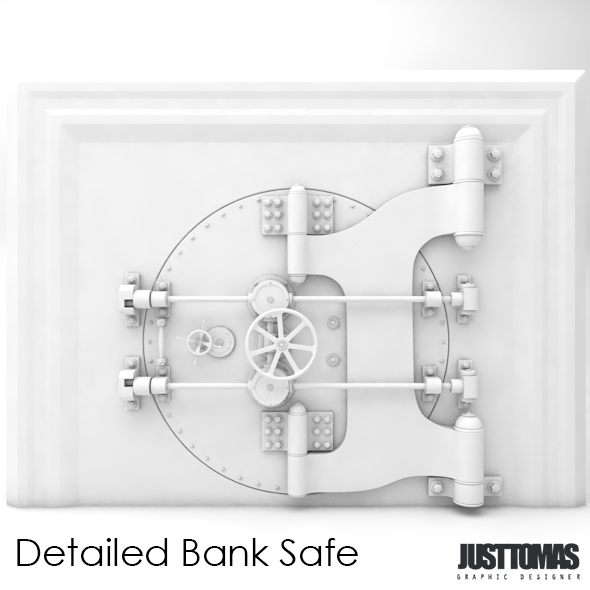 Detailed Bank Safe - 3DOcean Item for Sale