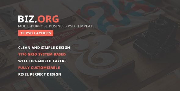 Bizorg — Multipurpose Corporate Business PSD Template