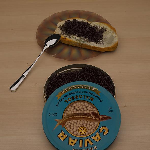 Black caviar - 3DOcean Item for Sale