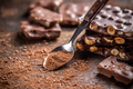 Cocoa powder with chocolate