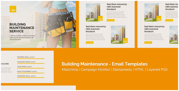 Corporate - Building Maintenance - Responsive Email Templates