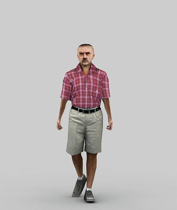 LOW POLY MALE WALK - 3DOcean Item for Sale