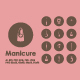 Manicure icons