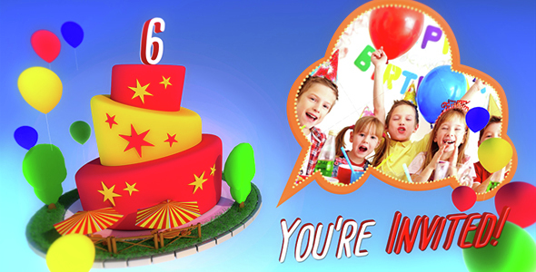 After Effect Birthday Template | My Birthday Party Kids After Effects Templates F5 Design Com