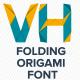 Animated Folding Origami Font
