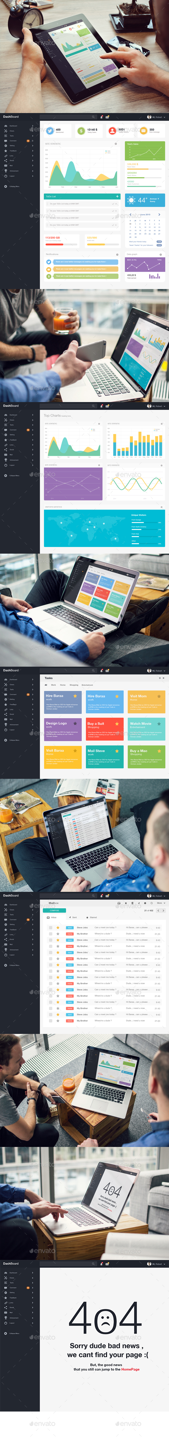 Dashboard Admin Panel (User Interfaces)