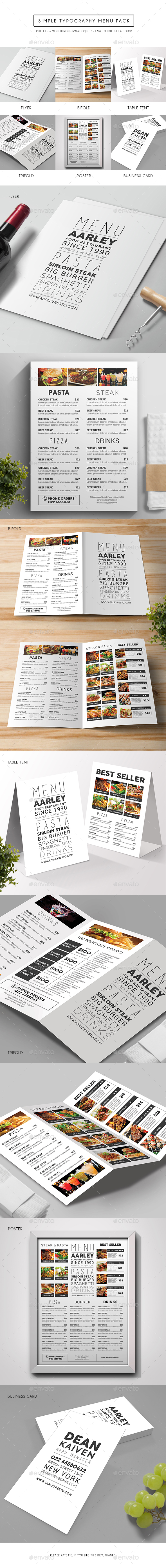 Simple Typography Menu Pack