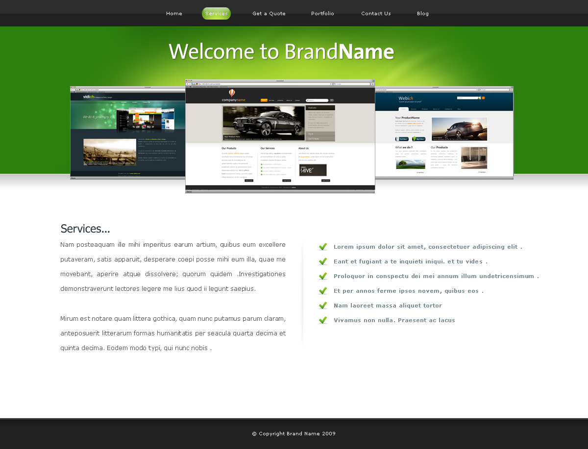 Clean & Professional - Green Web 2.0 -