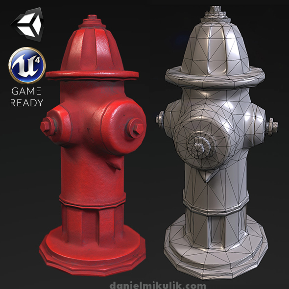 Hydrant - PBR Textures - 3DOcean Item for Sale