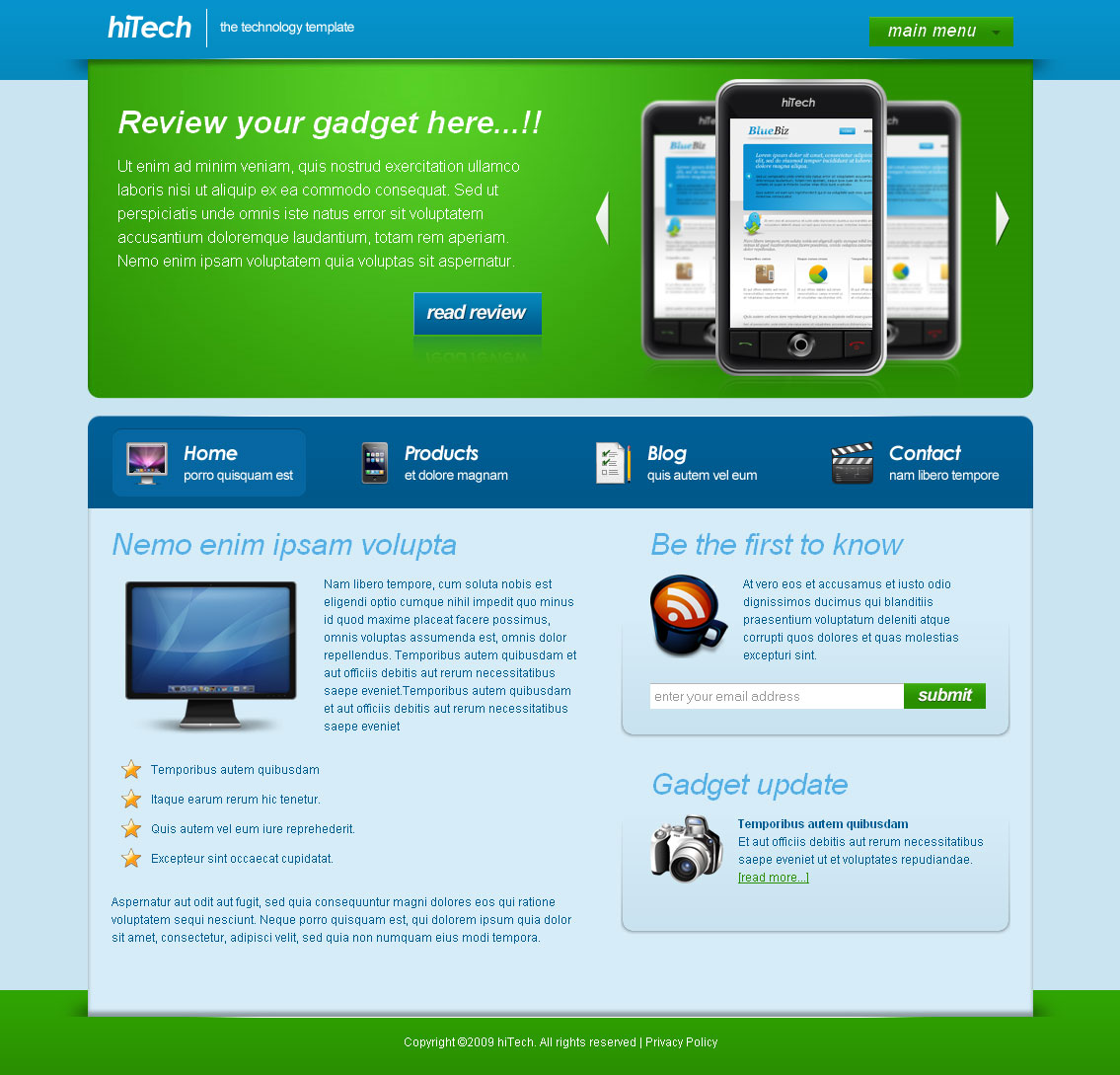 Hi Tech Technology Template By Templatesquare Themeforest: best home tech products