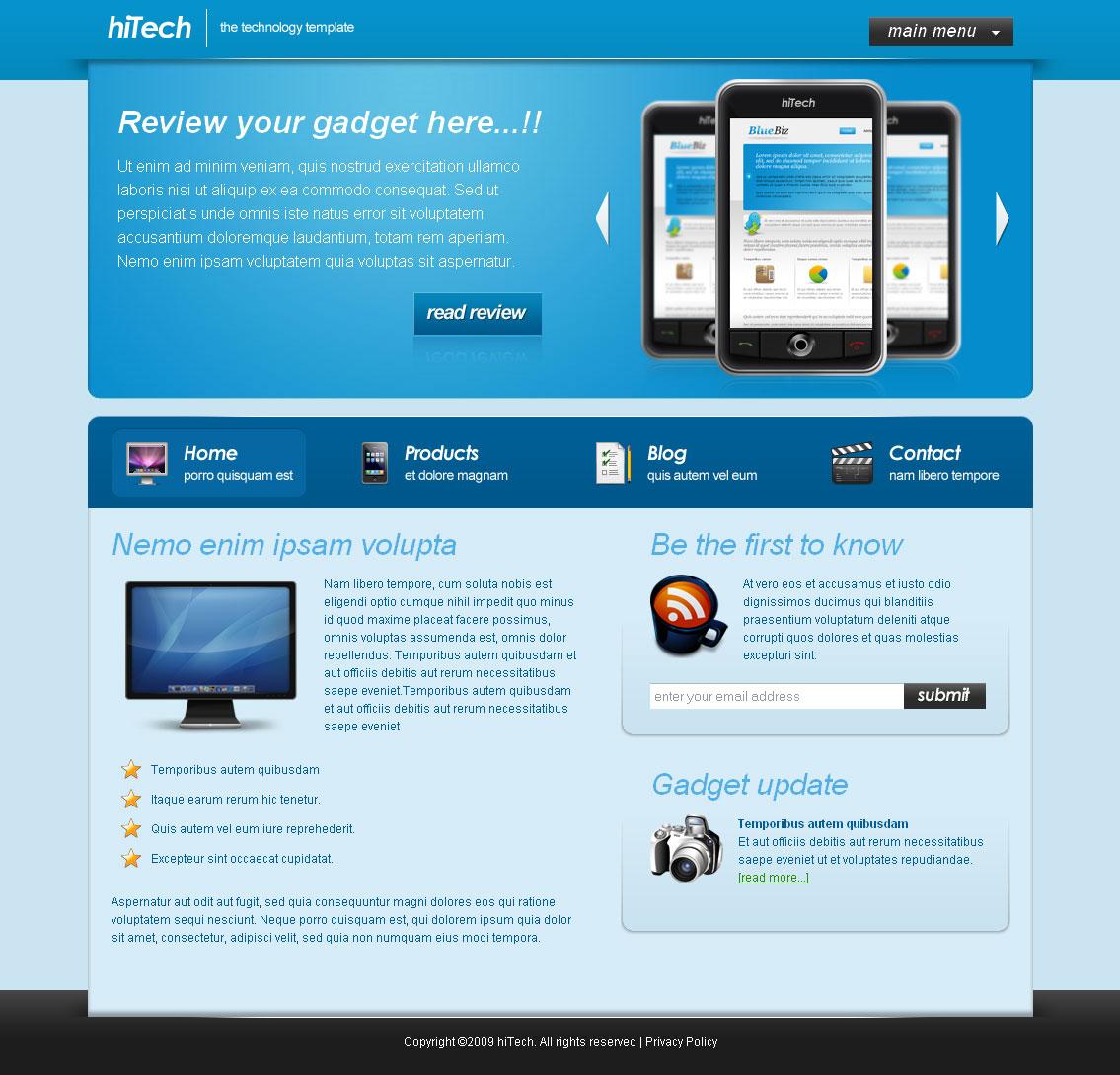 Hi Tech - Technology Template