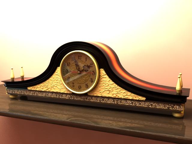 3DOcean Mantel Clock 178603