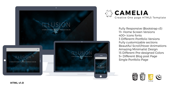 Camelia Responsive One Page Creative Template