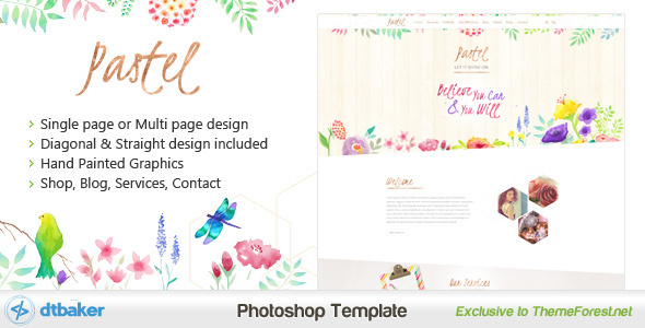 Pastel+-+Hand+Painted+Floral+PSD