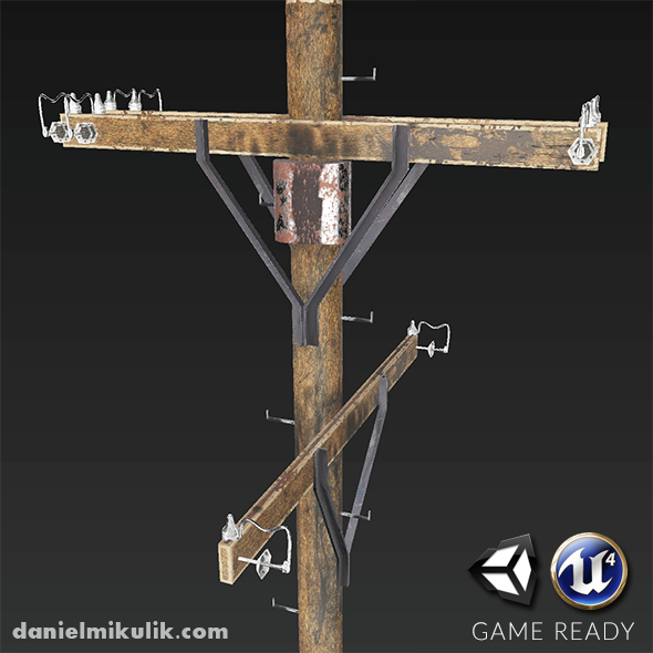 Electric Pole - PBR Textures - 3DOcean Item for Sale