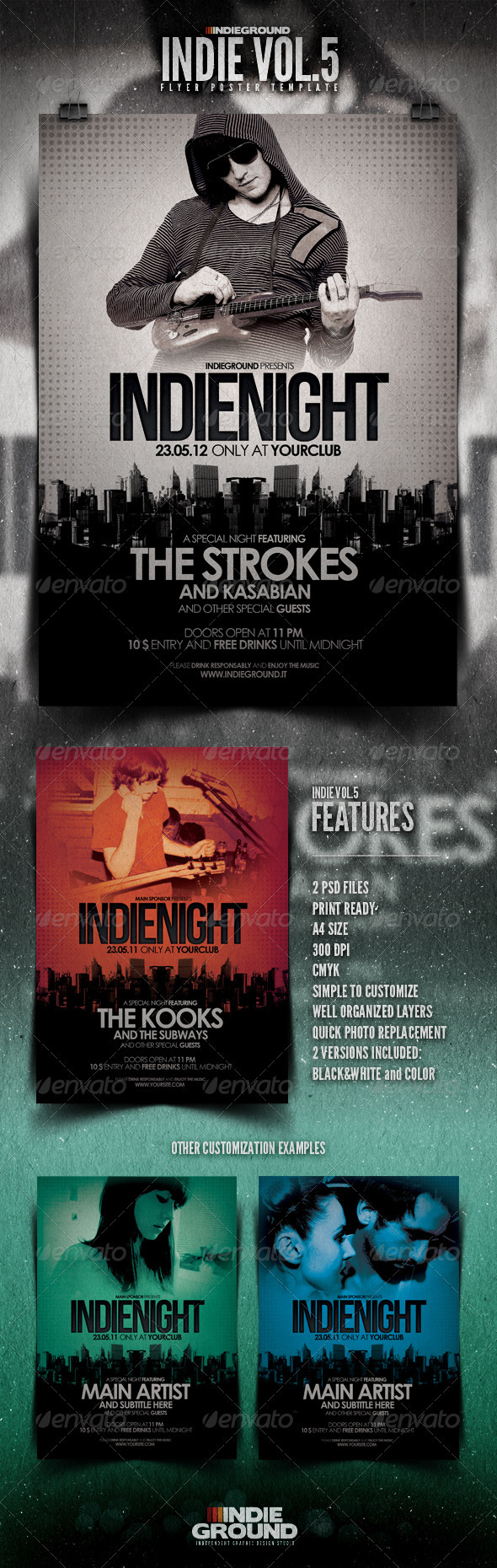 Indie Flyer/Poster Vol. 5 - Concerts Events