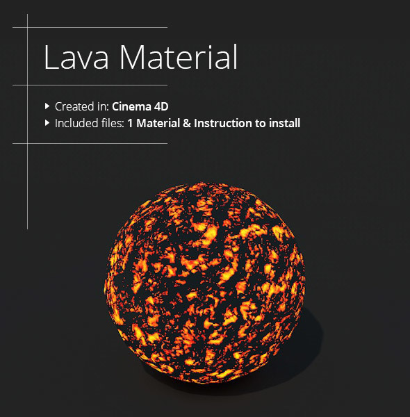 Lava Material - 3DOcean Item for Sale