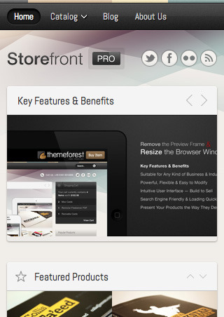 Storefront Pro for Shopify — Premium Theme - The top of the homepage as it would appear on a smartphone screen.