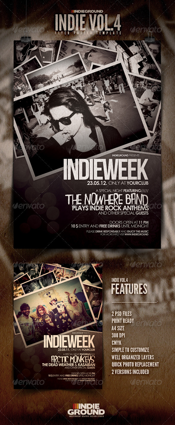 Indie Flyer/Poster Vol. 4 - Concerts Events