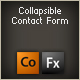 collapsible contact form component - ActiveDen Item for Sale