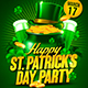 Happy St. Patrick's Day Party Flyer Template