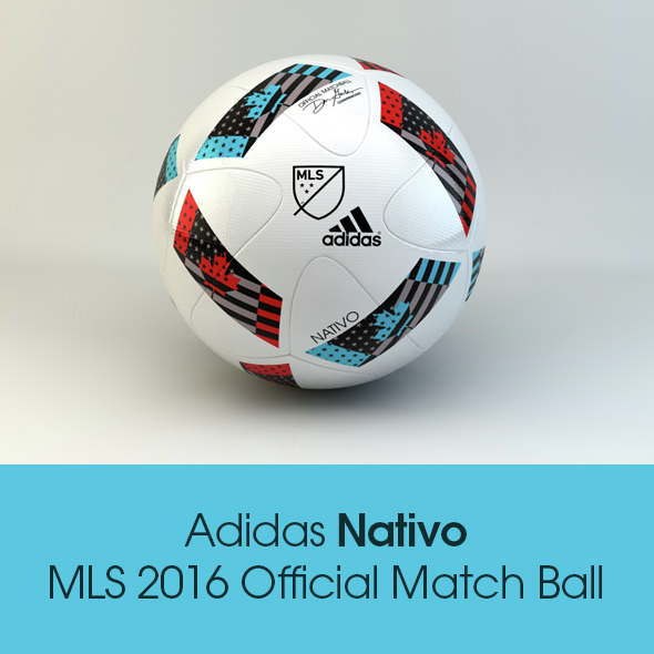 Adidas Nativo MLS 2016 Official Match Ball - 3DOcean Item for Sale