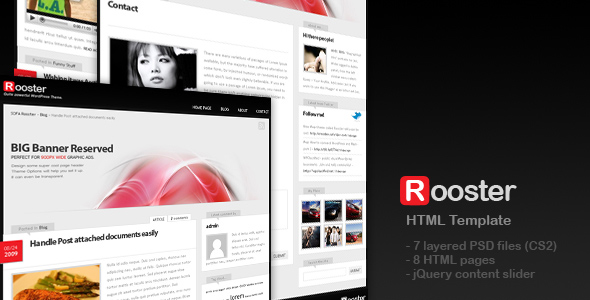 Sofa Rooster - HTML Template - Please check Demo/Preview to get clue how this template actually looks like.
