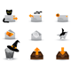 Halloween Mail Icons - GraphicRiver Item for Sale