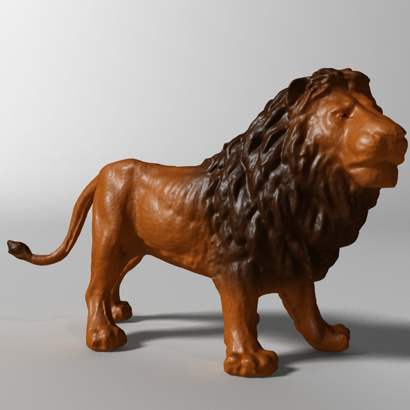 Lion 3d scanned - 3DOcean Item for Sale