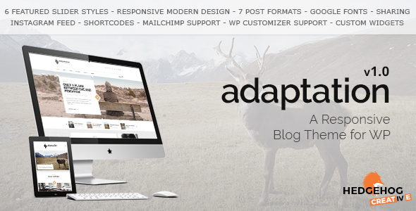 Download Adaptation - a Responsive Blog Theme for WordPress nulled download