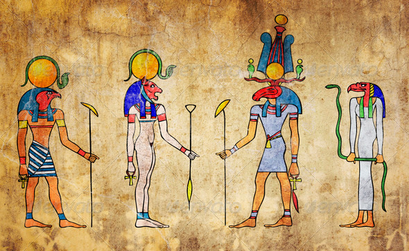egyptian gods - Stock Photo - Images