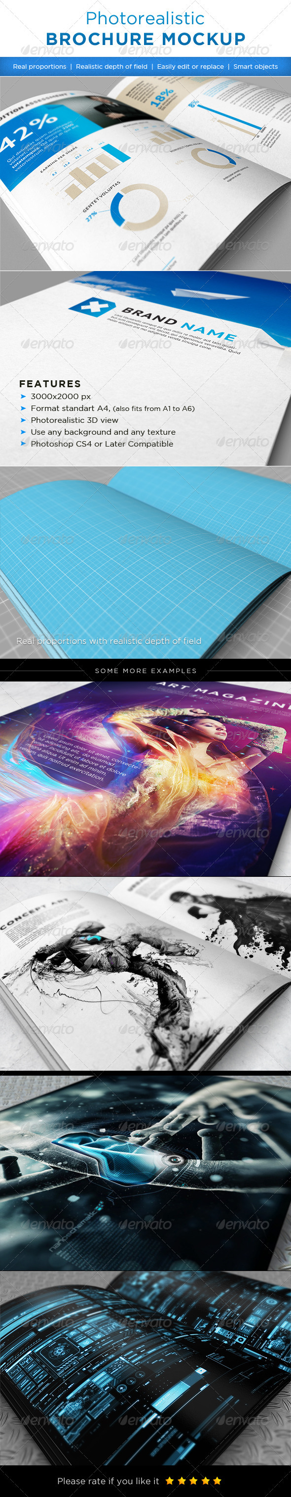 GraphicRiver Realistic brochures mock-ups 1510792