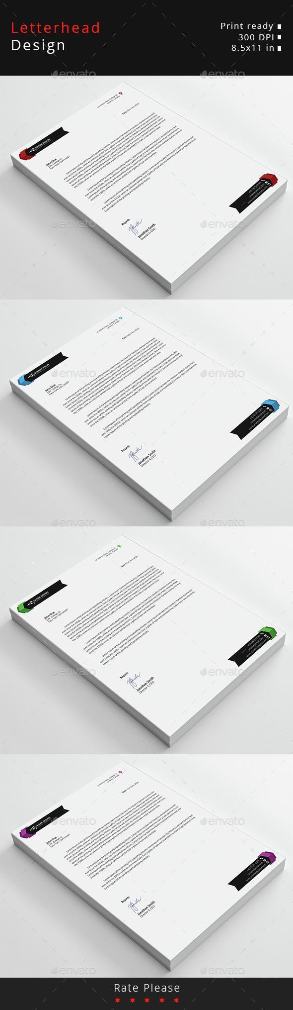 Letterhead design design templates from graphicriver spiritdancerdesigns Gallery