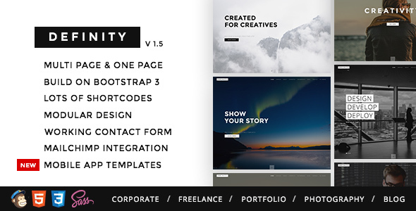 9. Definity - Multipurpose One/Multi Page Template