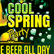 Cool Spring Party Flyer Template
