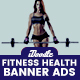 Health & Fitness Banners Ads