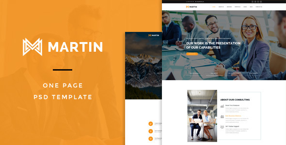 Martin : One Page PSD Template