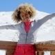Young Woman Celebrating The Winter Season