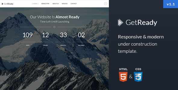 GetReady - Responsive Under Construction Template
