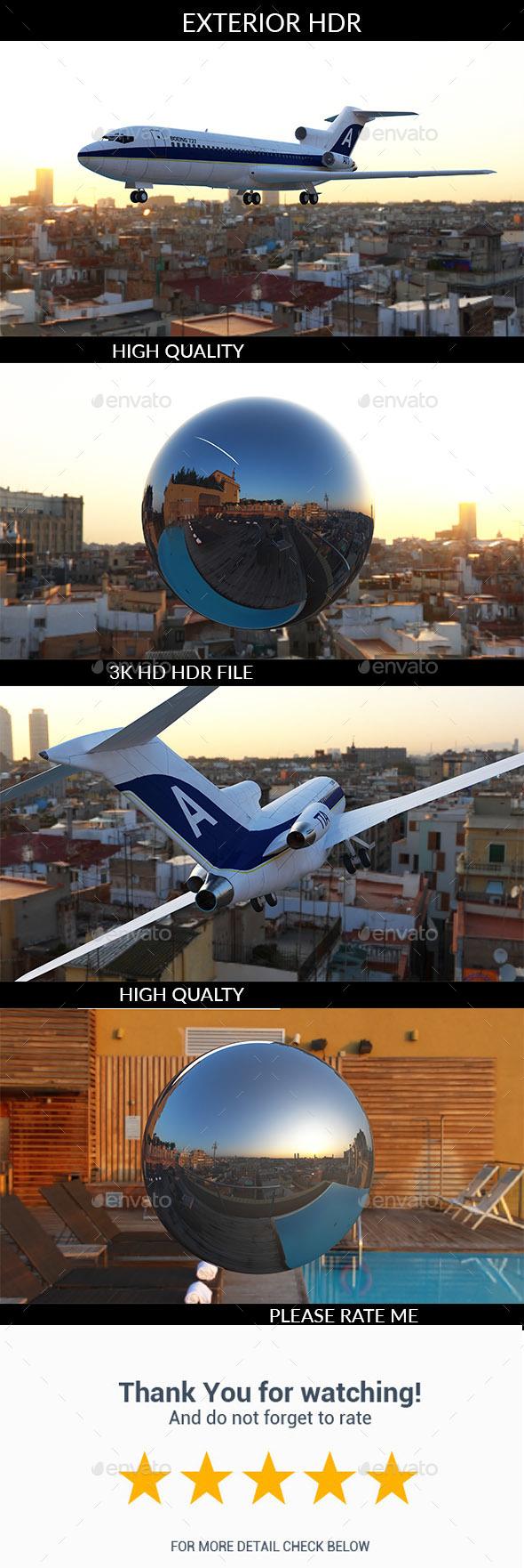 Barcelona HDR - Exterior HDR - 3DOcean Item for Sale