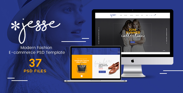Jesse - Modern Fashion e-commerce PSD Template