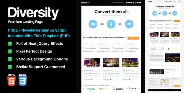 Diversity - Premium Landing Page - Diversity Template - Preview.
