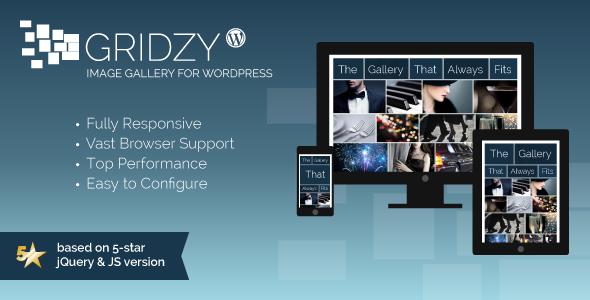 Rejilla de Gridzy Galería de imágenes para WordPress (Galerías de arte)