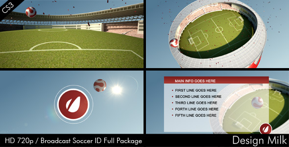 After Effects Project - VideoHive Broadcast Soccer ID Package 1513444